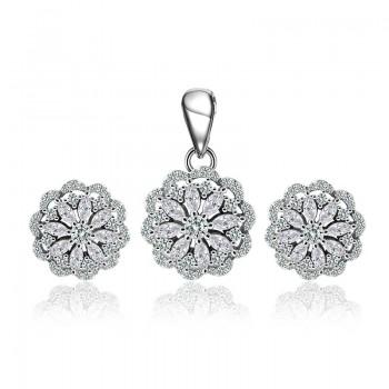 Bộ trang sức bạc Flowering Shrubs