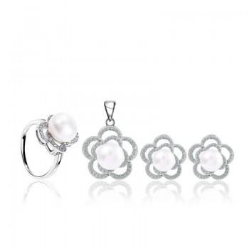 Bộ trang sức bạc Love Flower Pearl