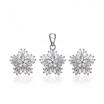 Bộ trang sức bạc Madison Flower