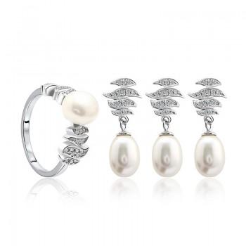 Bộ trang sức bạc ngọc trai Esperanza