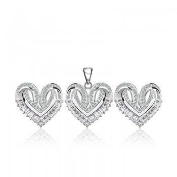 Bộ trang sức bạc Roxana Heart