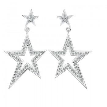 Bông tai bạc The Double Stars