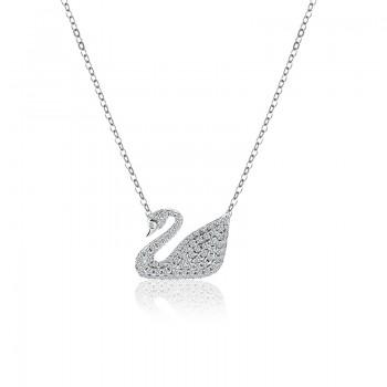 Dây chuyền bạc Pretty Swan