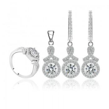 Bộ trang sức bạc Evelynn Love