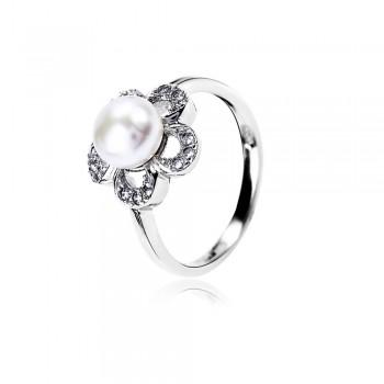 Nhẫn bạc Flower Pearl