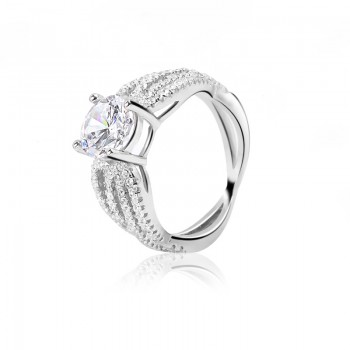Nhẫn bạc Gerbera