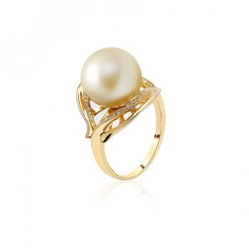 Nhẫn vàng 18k ngọc trai biển Jade 10-11mm