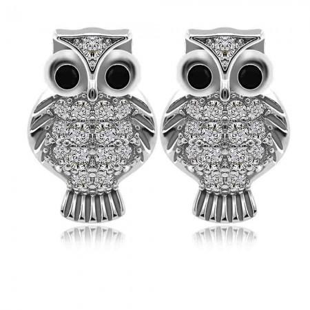 Bông tai bạc Beauty Owl