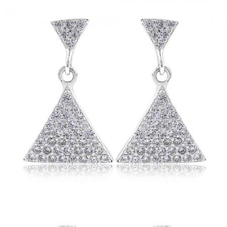 Bông tai bạc Triangles Sparkle
