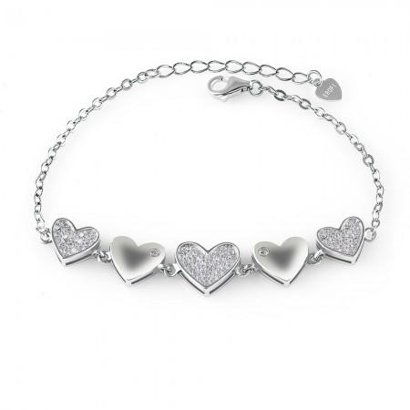 Lắc tay bạc String Heart