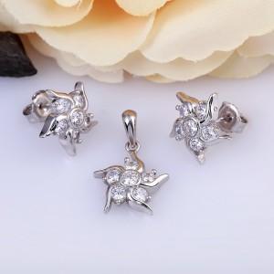 Bộ trang sức bạc Anna Flower