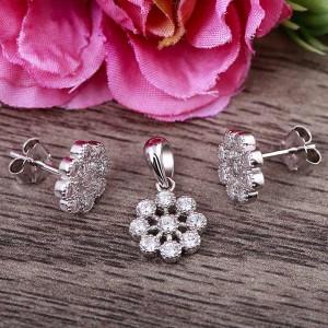 Bộ trang sức bạc Babies Flower