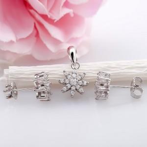 Bộ trang sức bạc Ban Flower