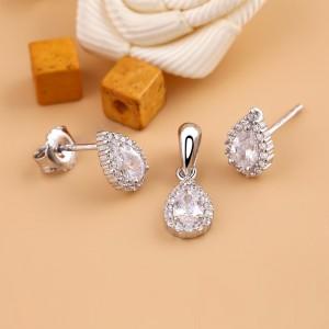Bộ trang sức bạc Beauty Tear