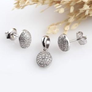 Bộ trang sức bạc Cans Oval