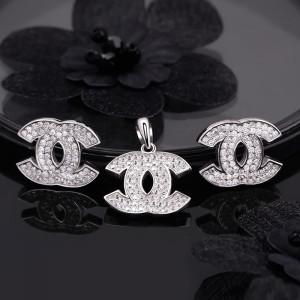 Bộ trang sức bạc Chanel 3