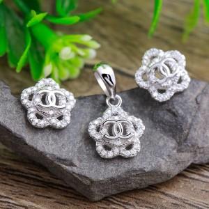 Bộ trang sức bạc Flower