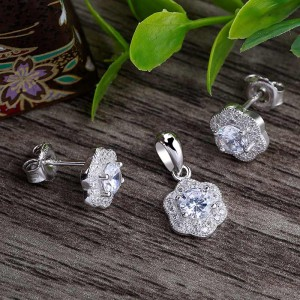 Bộ trang sức bạc Chibin Flower