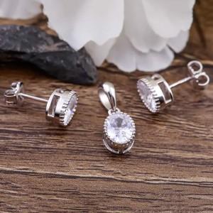 Bộ trang sức bạc Chibin Oval