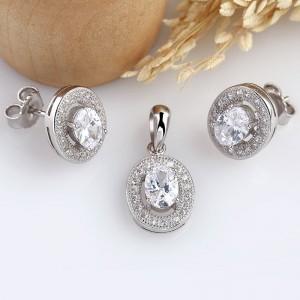 Bộ trang sức bạc Conect Oval