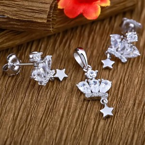 Bộ trang sức bạc Crown And Star