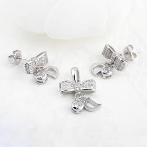 Bộ trang sức bạc D Bow