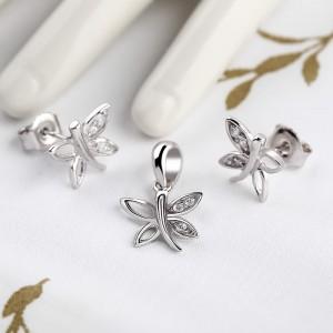 Bộ trang sức bạc Ely Butterfly