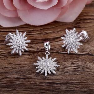 Bộ trang sức bạc Feeling Flower