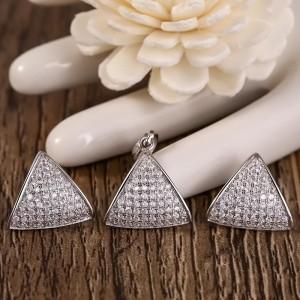 Bộ trang sức bạc Funny Triangle