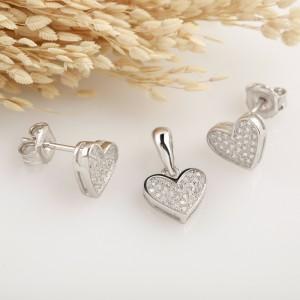 Bộ trang sức bạc Happy Heart