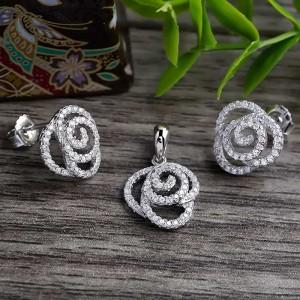 Bộ trang sức bạc Hayi Flower