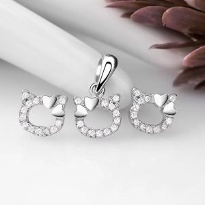 Bộ trang sức bạc Like Cat