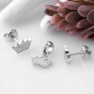 Bộ trang sức bạc Little Crown