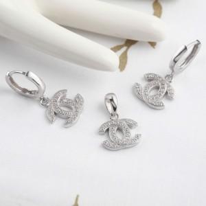 Bộ trang sức bạc Loha Chanel