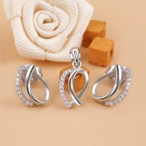 Bộ trang sức bạc Lotus Bud