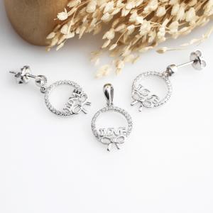Bộ trang sức bạc Love Bow