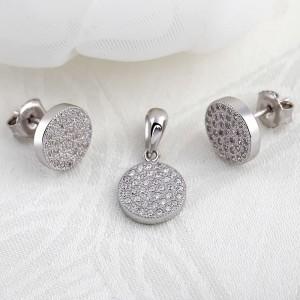Bộ trang sức bạc Martin Circle
