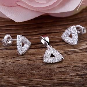 Bộ trang sức bạc Miu Triangular