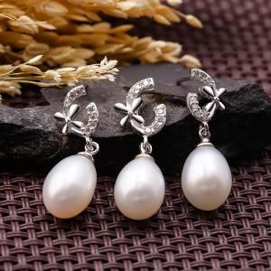 Bộ trang sức bạc ngọc trai C Pretty