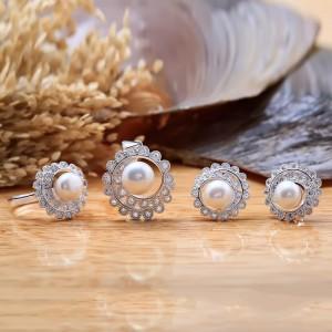 Bộ trang sức bạc ngọc trai Sunny