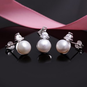 Bộ trang sức bạc Osaka Love Pearl