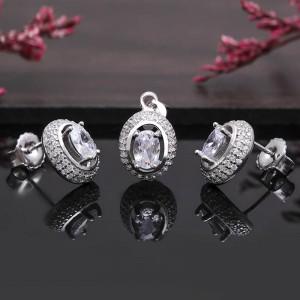 Bộ trang sức bạc Pretty Oval