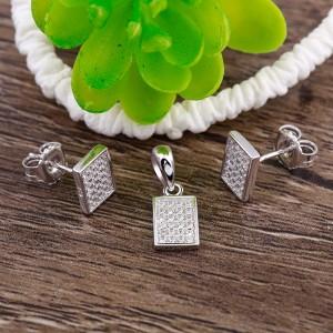 Bộ trang sức bạc Rectangle