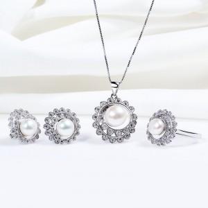 Bộ trang sức bạc Rotation Pearl