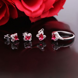 Bộ trang sức bạc Ruby Beauty