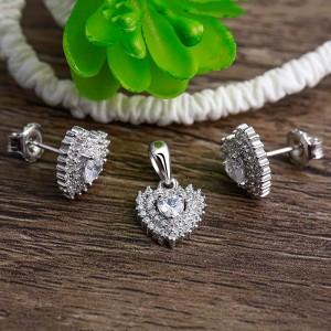 Bộ trang sức bạc Selena Heart