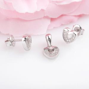 Bộ trang sức bạc Shine Heart