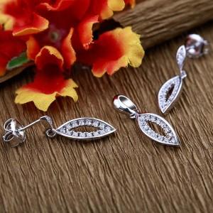Bộ trang sức bạc Shine Leaf