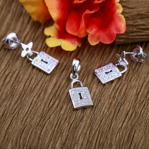 Bộ trang sức bạc Shine Lock
