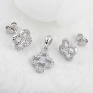 Bộ trang sức bạc Shinichi Flower